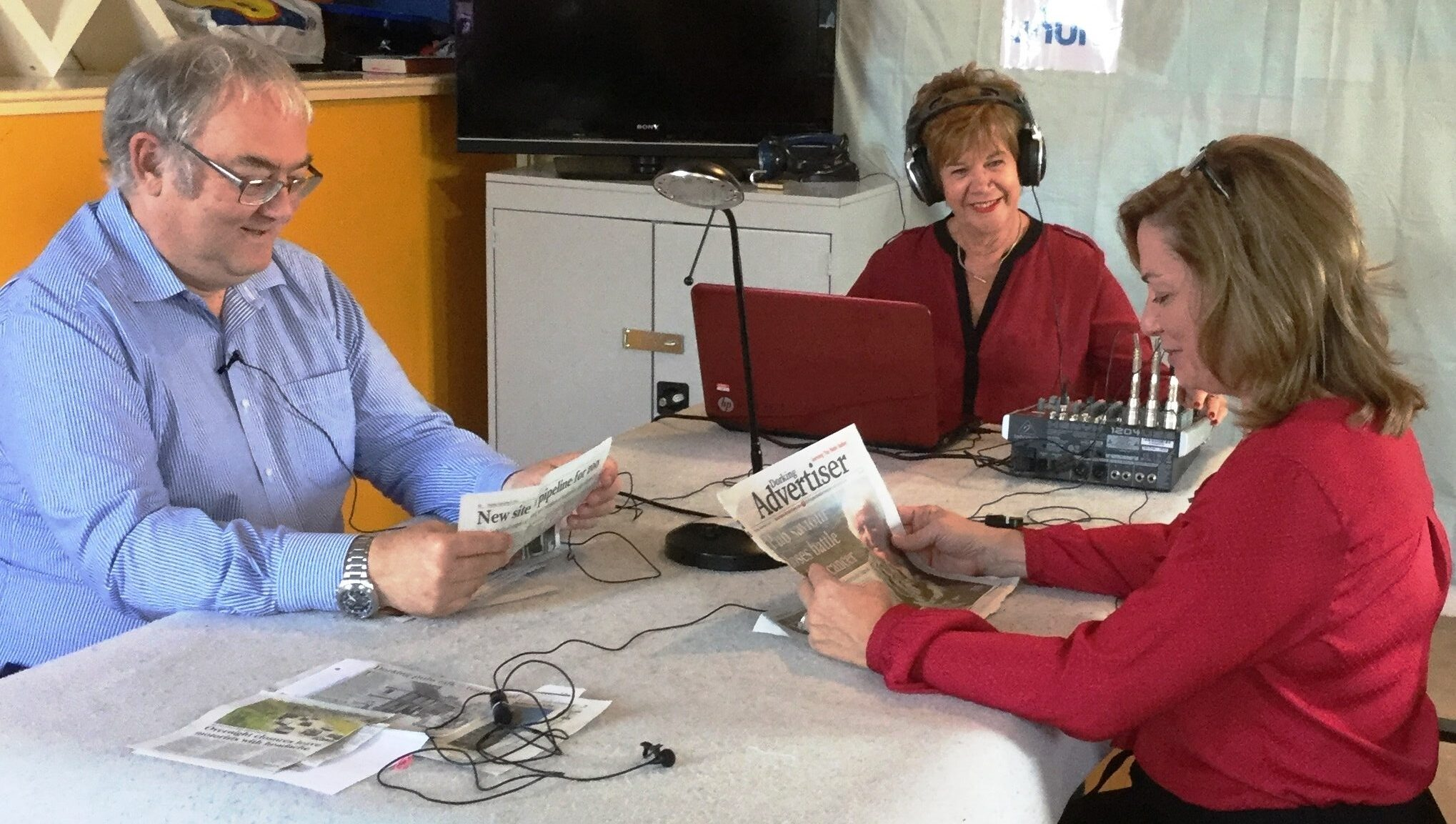 A recording Session of the Dorking Talking Newspaper